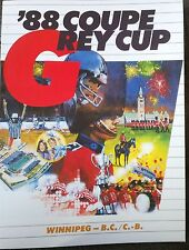 CFL Illustrated Canadian Football League Grey Cup Winnipeg B.C. 1988 OOP Rare!