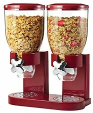 Zevro Dual Dry Food Cereal Candy Dispenser Red NEW, Free Shipping