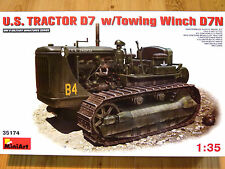 Miniart 1:35 D7 With D7N Towing Winch U.S. Military Tractor Model Kit