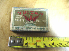 VULCAN IMPREGNATED SAFETY MATCHES  WOOD CASE  TIDAHOLM SWEDEN