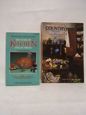Lot of 2 Country Furniture Kitchen Collectibles Franklin Swedberg 1984 BR