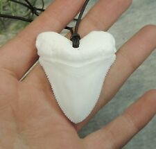 SERRATED 1 13/16'' BABY MEGALODON REPLICA NECKLACE/ FOSSIL SHARKS TOOTH TEETH