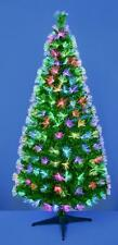 Premier Green Tree With Coloured Fibre Optics 1.8m Christmas Tree .