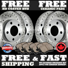 P0927 FITS 1998 1999 2000 2001 2002 LINCOLN TOWN CAR Drilled BRAKE ROTORS PADS