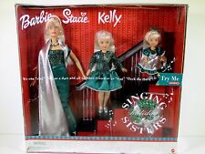 NIB BARBIE DOLL 2000 SINGING SISTERS HOLIDAY CHRISTMAS GIFT SET KELLY STACIE