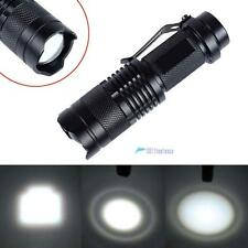 CREE T6 LED Mini Flashlight Focus Torch 2000LM Zoomable Lamp Light 14500 AA TL