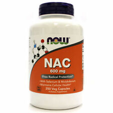 NOW Foods NAC N-Acetyl Cysteine 600mg 250cap Free Radical Protection w/ Selenium