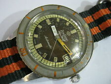 Classic ZODIAC SEAWOLF Automatic Quickset Date Hacking Men's Rare Collection!
