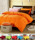 Solid Bedding Quilt/Doona/Duvet Cover And Pillowcases 9 Colors