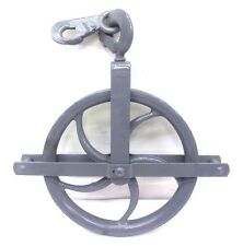 """UNKNOWN BRAND GIN BLOCK PULLEY SHEAVE AND HOIST PULLEY SET, 12"""" OAD"""