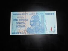 Zimbabwe 100 Trillion Dollars, AA /2008,  UNC, 100 Trillion Series