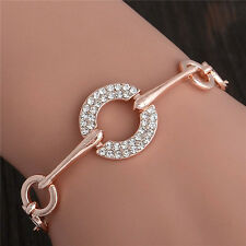 New Design 18K Rose Gold Filled Austrian Crystal Elegant Bracelet Adjustable