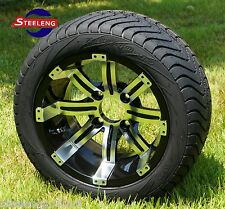 """GOLF CART 12"""" TEMPEST WHEELS and 215/40-12 DOT LOW PROFILE TIRES (SET OF 4)"""