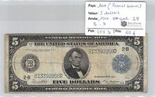 USA - 5 DOLLARS 1914 NEW YORK 2B BD  FEDERAL RESERVE*