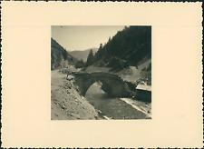 France, Haut-Queyras, le Guil, Vieux Pont  Vintage silver print Tirage argen