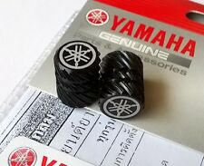 YAMAHA GENUINE WHEEL VALVE DUST CAP SET OF TWO HALF KNURLED BLACK