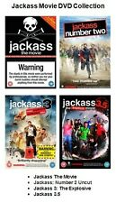 JACK ASS COMPLETE MOVIE FILM COLLECTION DVD SET PART 1 2 3 and 3.5 New Sealed