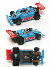 1983 TYCO Indy F1 Slot Car Patrick #20 BABY BLUE 440 MAGNUM w /RARE SIDE DECALS!