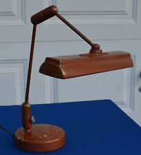 Vintage 1940's Art Deco Industrial Lamp Banker/Lawyers Fluorescent Desk Lamp#995
