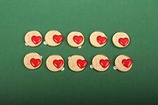 10x Glückscent Herz Herzen Glücksbringer Silvester Tischdeko Geschenk vergoldet