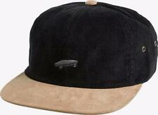 Vans Off The Wall Salton Mens Corduroy Black Strapback Unstructured Camper NWT