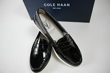 NIB COLE HAAN Size 10.5 Women's Black 100% Patent Leather PINCH Weekend Loafer