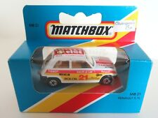 MATCHBOX SUPERFAST 21c RENAULT 5tl-celtica/ROLOIL-INTERNO GIALLO-Menta/in Scatola