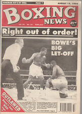 Vintage Boxing News Aug 94 Riddick Bowe v Buster Mathis Controversy