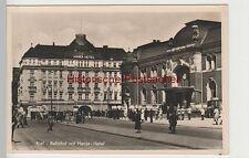 (81693) Foto AK Kiel, Bahnhof mit Hansa-Hotel, vor 1945