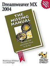 Dreamweaver MX 2004: The Missing Manual, David Sawyer McFarland, 0596006314, Boo