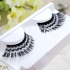 Damen künstliche Wimpern Welle Muster falsche Eyelashes Make Up Party