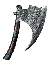 VIKING AXE SAXON WARRIOR MEDIEVAL FANCY DRESS PLASTIC BLADE WEAPON PROP 45CM NEW
