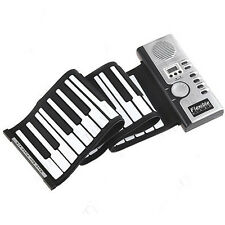 Roll-Up 61 MIDI Soft Key Synthesizer Electronic Piano Keyboard Mic