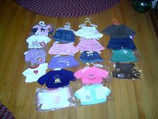 NEW -BEAR FACTORY & OTHERS -  19 PIECES - GIRLS &  BOYS MIXED LOT OF  CLOTHES