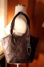 THE SAK SHOULDER BAG 100% GENUINE LEATHER BROWN ROOMY!