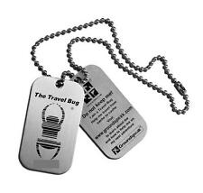 Geocaching Travel Bug Dog Tags Pair Unactivated