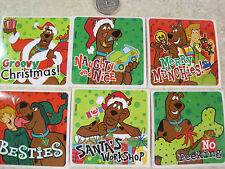 6 LARGE* SCOOBY DOO STICKERS * CHRISTMAS * SANTA * SHAGGY * DOG PUPPY SCRAPBOOK