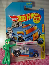CRATE RACER #173✰New Blue/Orange;Rattle Roll Trucking✰2016 Hot Wheels Case Q✰
