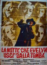 NIGHT EVELYN CAME OUT OF THE GRAVE Italian 4F movie poster 55x79 GIALLO SYMEONI