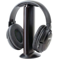 NEW Pyle PHPW5  Professional 5 in 1 Wireless Headphone System with Built in Mic