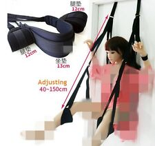 Adult SM Sex Toys Door Swing Sling Adjustable Mobile Straps Couples Fun W/seat