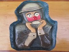 VINTAGE AMERICAN FOLK ART PAINTED EMMETT KELLY JR CIRCUS CLOWN RINGLING BARNUM