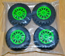 1/10 Rally 4WD  Green 12mm WHEELS & TIRES Traxxas 7407 TRA7473A (4) NEW