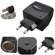 Car Charger Cigarette Lighter EU Plug 220V AC To 12V DC Adapter Converter