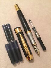 JINHAO 250 FROSTED BLACK GT FOUNTAIN PEN-M NIB-CONVERTER-CARTRIDGES-UK STOCK