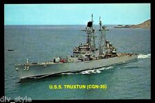 USS Truxton CGN-35 postcard US Navy ship nuclear-powered guided missile cruiser