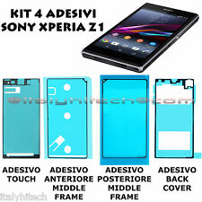 SET ADESIVI SONY XPERIA Z1 C6902 6903 LCD TOUCH SCREEN MIDDLE FRAME BACK COVER