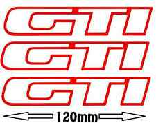 3 Stickers GTI Peugeot 205 309 120mm autocollant decals