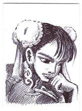 Aceo sketch card chun li de street fighter 2 jeu vidéo