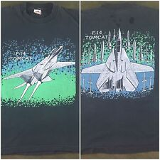 True Vintage 1988 Military Grumman F-14 Tomcat Fighter Aircraft Graphic T-Shirt
